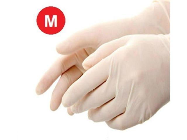 10000 Disposable Powder-Free Latex Medical Exam Gloves 5 Mil Thick Size: Medium