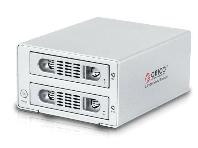 ORICO 3529RUS3 -SV All Aluminum Tool Free USB 3.0 & e - SATA 2 - Bay RAID 0 RAID 1 3.5