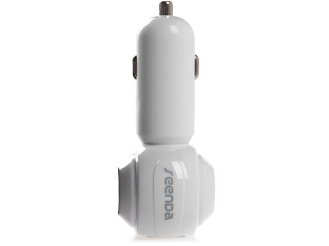 2-Port USB Car Charger White ICH-02