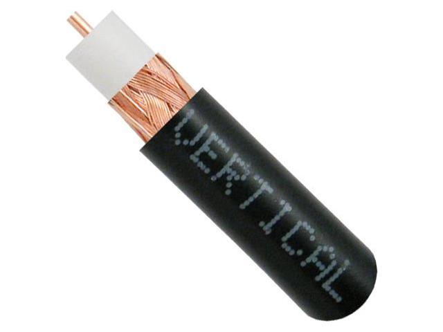 RG59, Bare Copper Coaxial Cable, Copper Braid, PVC Jacket, 1000, Easy Pull Box, Black