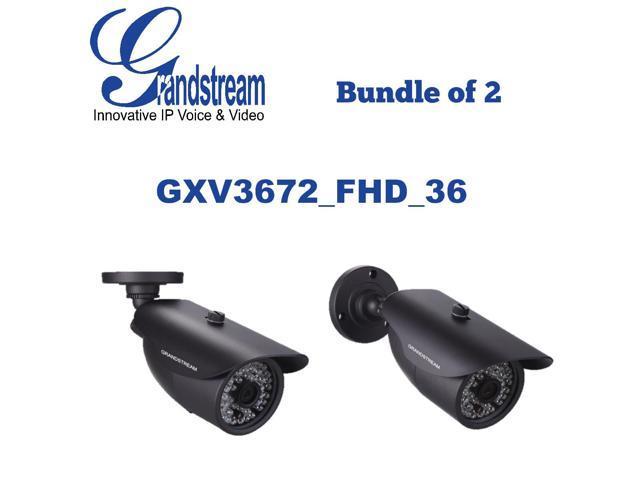 Grandstream GXV3672_FHD_36 (Bundle of 2) Outdoor IP Camera 3.1MP 3.6mm PoE