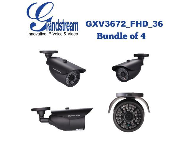 Grandstream GXV3672_FHD_36 (Bundle of 4) Outdoor IP Camera 3.1MP 3.6mm PoE