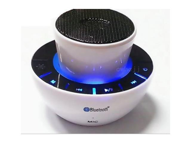 DBPOWER BMA0103-B-JA Portable Bluetooth 3.0 Mini Speaker with 3.5mm Aux Port, Enhanced Bass Boost, Built in Mic Speaker System - White