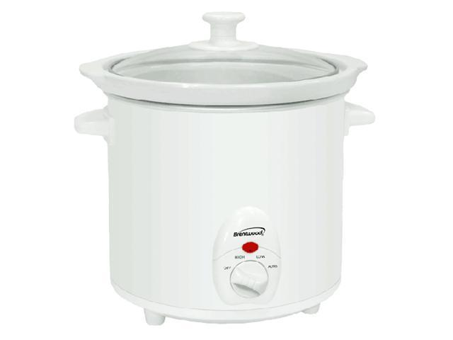 3 Quart Slow Cooker - White