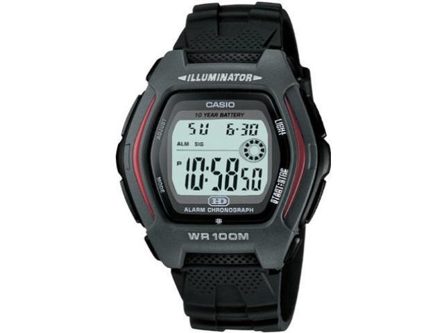 Casio HDD600-1AV Men's Chronograph Digital Sports Watch w/ Black Resin Band