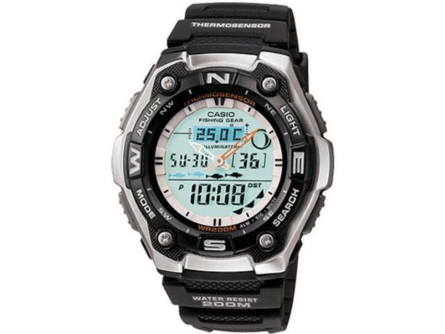 Casio AQW101-1AV Sports Gear Watch with Fishing Mode and Moon Data
