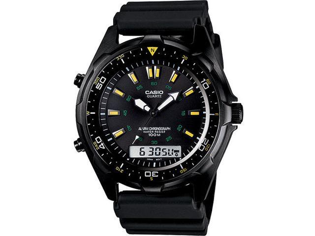 Casio Men's AMW-360B-1A1V Analog/Digital Silicone Strap Sports Watch
