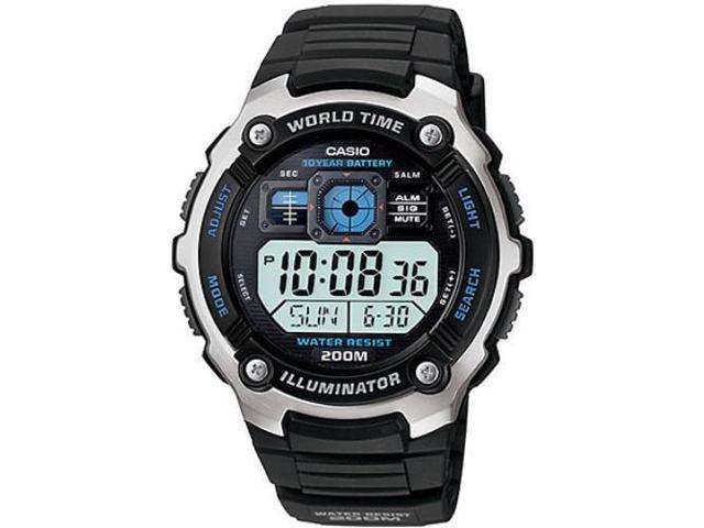 Casio AE-2000W-1AV Mens Multi-Functional Digital Sport Watch Silver-tone & Black