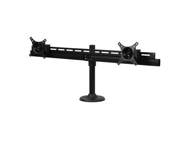 Dyconn DE9E2S-G (Duplex Series) Dual TV/Monitor Grommet Desk Mount - Supports 14-30
