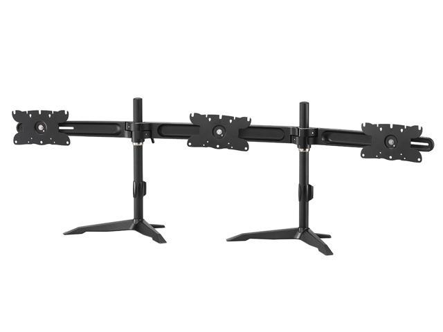 Dyconn Full Aluminum Vulture Adjustable Height Universal Triple LED Display Monitor Mount Stand up to 32