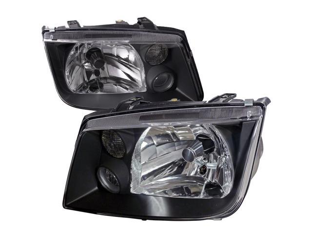 Volkswagen Jetta Black Crystal Head Lights W/Drl Fog Lamps Pair