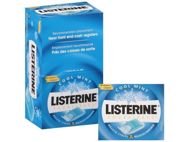 Listerine Pocket Paks Oral Care Strips 12PK 24 strip/PK