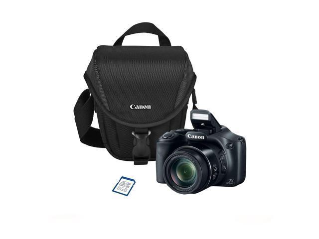 Canon PowerShot SX520 HS 16MP CMOS Sensor Camera: 42x Zoom, Bag, 8GB Card