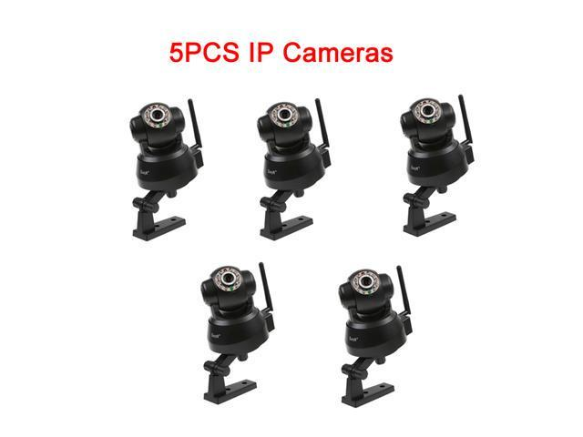 5 PCS EasyN Wireless Network IR Nightvision Cameras - LED 2-way Audio