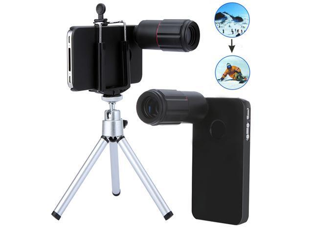 8X Magnification Mobile Phone Telescope Magnifier Optical Camera Lens with Tripod + Holder + Case for iPhone 4 4s