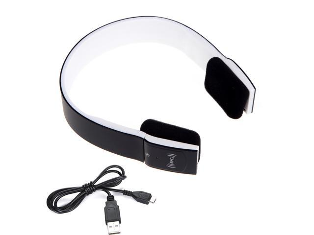 NFC Bluetooth 3.0 + EDR 2CH Stero Headset Headphone with Mic for iPhone iPad Smartphone BH-2S Black