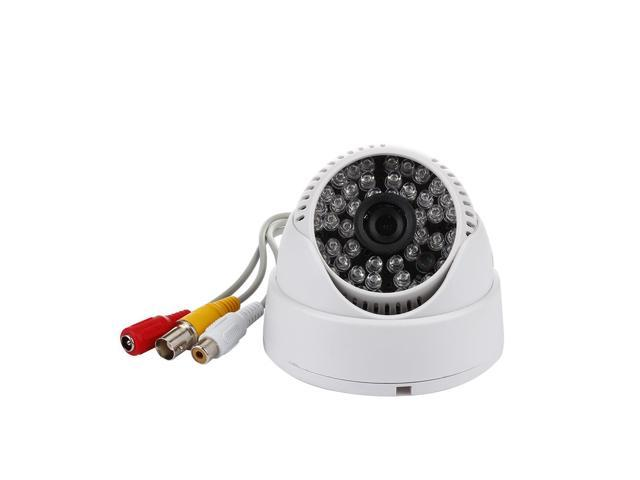CMOS 48IR Day Night Vision Security Color CCTV Dome Camera 3.6mm White