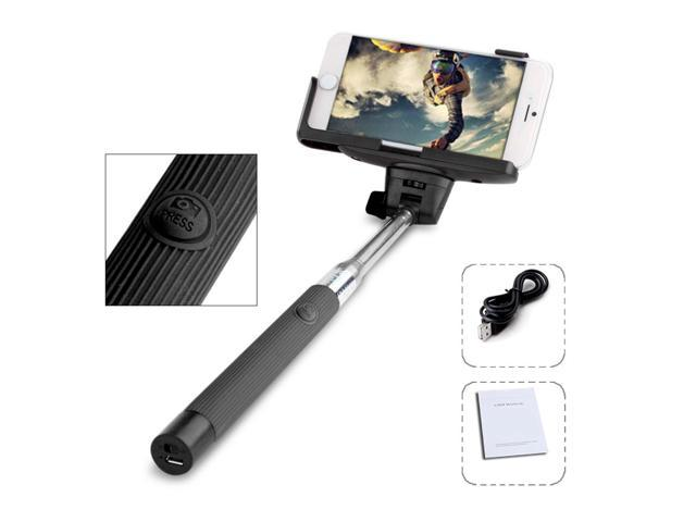 Extendable Wireless Self-portrait monopod Selfie Handheld Stick Pole with Adjustable Mount Holder Specially Designed for iPhone Samsung and other ...