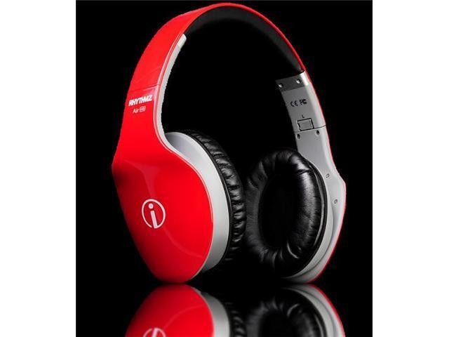 RHYTHMZ AIR HD Over Ear Headphones (Red)