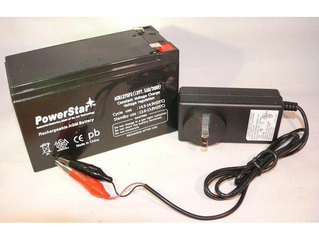 Garmin echo 300 fish finder Backup battery and Charger 12V by PowerStar