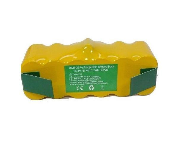 14.4V 2500mAh Vacuum Battery For iRobot Roomba 500 510 550 NI-MH Yellow