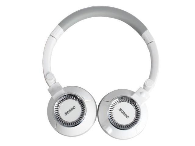 SOMIC EP19PRO White Stylish Super Bass Wired Headphone Foldable Headset Stereo Headphone with Mic for Samsung Galaxy Note 2 3, iPhone 5 5s 5c, ...