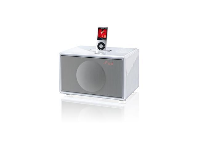 HiFi Docking Station with FM and Alarm with 30-Pin Connector - Small (White)