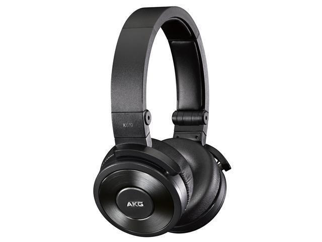 K619 Premium DJ Headphones with Mic (Black)
