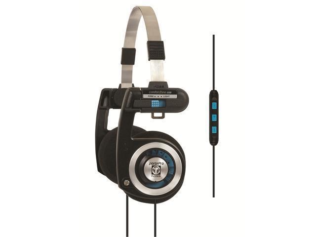 PortaPro KTC On-Ear Headphone with Mic (Black)