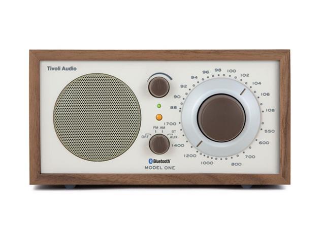 Model One Bluetooth AM/FM Radio (Walnut/Beige)
