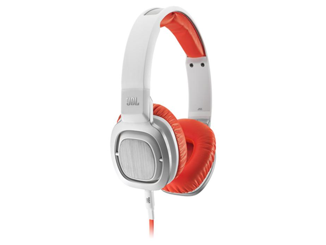 JBL J55 High-Perfomance On-Ear Headphones (Orange and White)