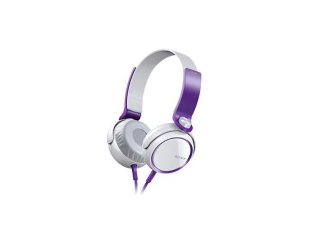 Sony MDR-XB400/VLT XB Series On-Ear Headphones (Violet)