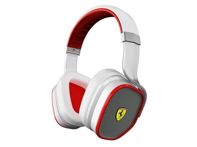 Ferrari by Logic3 R300W Active Noise-Canceling Scuderia Collection Headphones-White