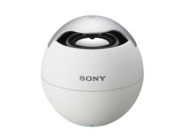 Sony SRS-BTV5/WHT Wireless Mobile Bluetooth Speaker with Built-In Mic (White)