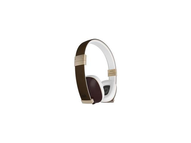 Polk Audio Hinge On-Ear Headphones with 3-Button Apple Control and Mic (Brown)