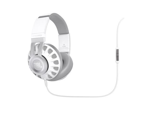 JBL Synchros S700 Over-Ear Headphones with In-Line Mic & Controls (White)