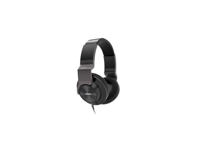 AKG K545 Closed-Back Over-Ear Headphones with In-Line Apple Compatible Mic & Controls (Black)