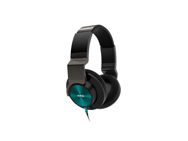 AKG K545 Closed-Back Over-Ear Headphones with In-Line Apple Compatible Mic & Controls (Turquoise)