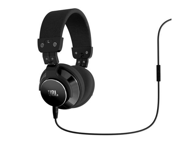 JBL BassLine Over-Ear DJ Style Headphones with In-line Mic & Controls (Black)