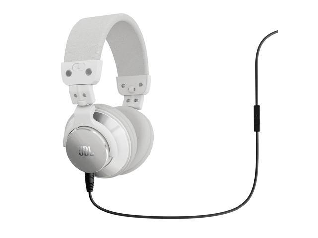 JBL BassLine Over-Ear DJ Style Headphones with In-line Mic & Controls (White)