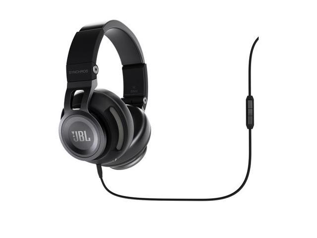 JBL Synchros S500 Over-Ear Headphones with In-Line Mic & Controls (Black)