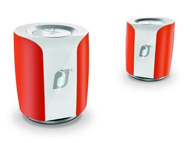 Damson Audio Jet Wireless Bluetooth Stereo Speakers - Pair (Burnt Orange/White)
