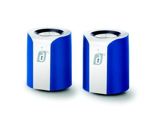 Damson Audio Jet Wireless Bluetooth Stereo Speakers - Pair (Blue/White)