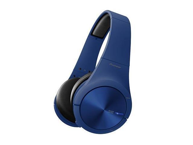 Pioneer SE-MX7 Fully-Enclosed Over-Ear Headphones with In-Line Mic and Volume Controls (Matte Blue)