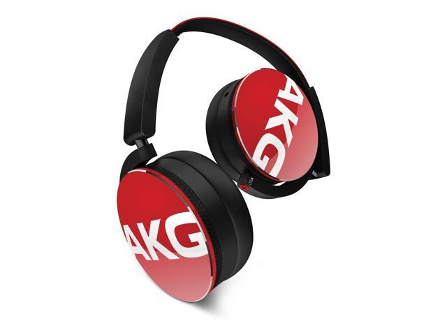 AKG Y50 On-Ear Headphones With Universal One Button Remote Control (Red)