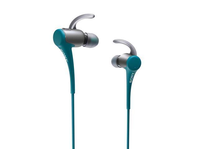 Sony Water Resistant In-Ear Headphones w/Bluetooth (Blue)