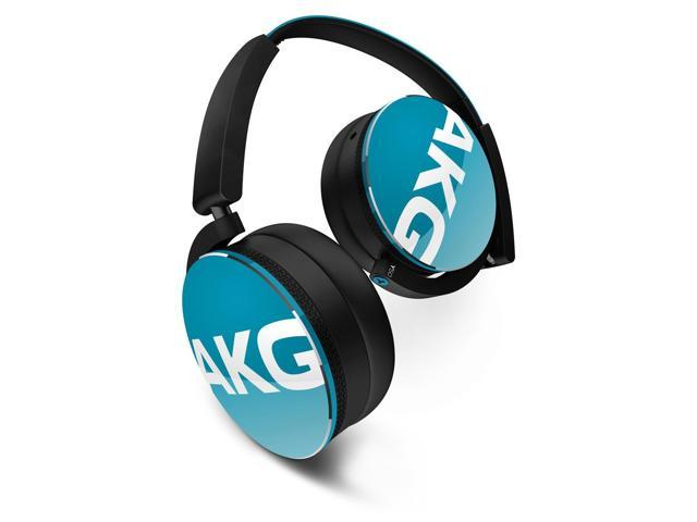 AKG Y50 On-Ear Headphones With Universal One-Buttom Remote Control (Teal)