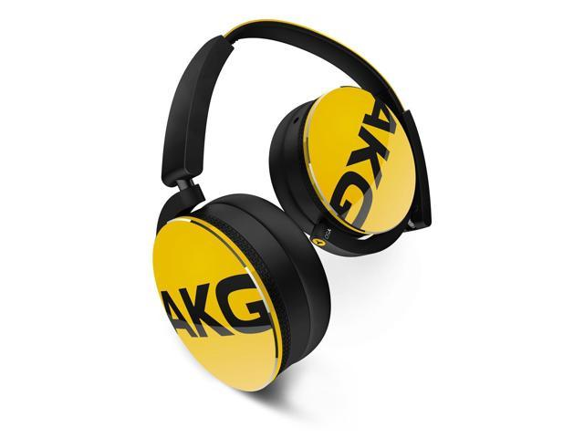 AKG Y50 On-Ear Headphones With Universal One-Button Remote Control (Yellow)