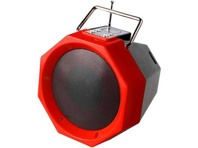 QFX BT-26 Portable Rechargeable Bluetooth Speaker (Red)