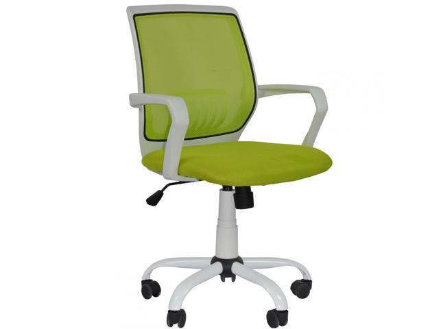 New Green Ergonomic Mesh Computer Office Desk Midback Task Chair Metal Base3127